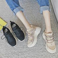 MYCORON/Новая Осенняя Роскошная модная женская повседневная обувь на шнуровке, кожаная обувь на платформе, женские кроссовки, женская обувь