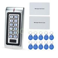 IP65 Metal Waterproof Access Controller 125KHz RFID Card Reader Keypad With 10 Keys For Door Access