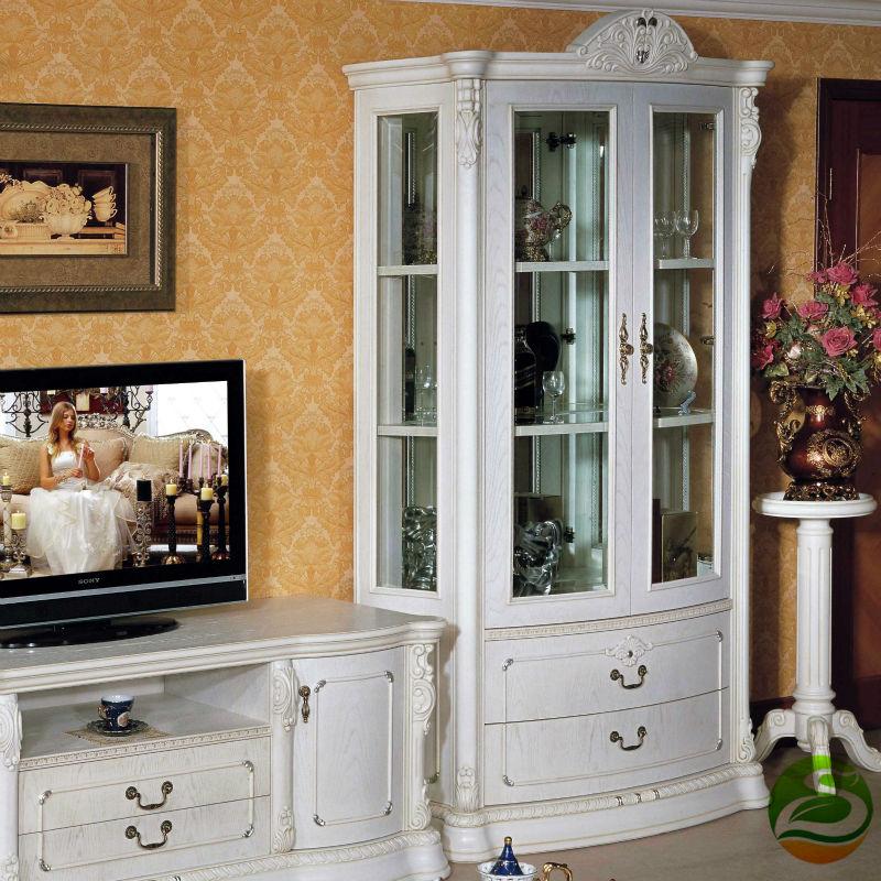 White Wine cooler Classic wood wine cabinet Single Door classic oak wood kitchen cabinet lh sw027