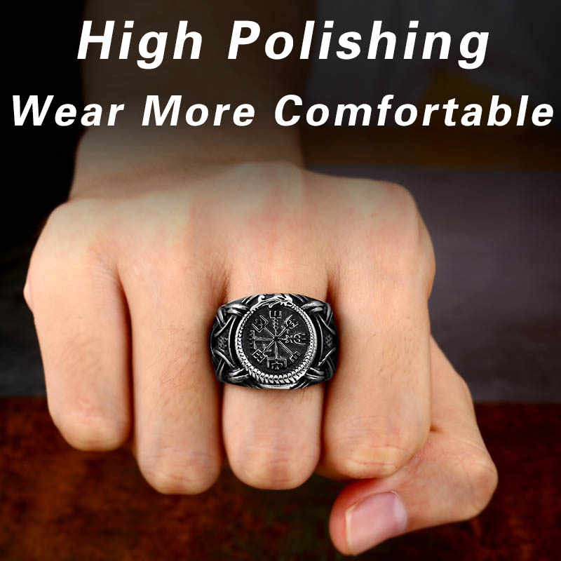 BEIER stal nierdzewna 316L nowy Desgin amulet wikinga Rune mężczyźni pierścień europa modna biżuteria na prezent Dropshipping