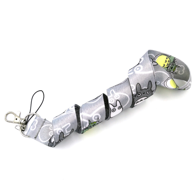 Regooly RE66 My Neighbor Totoro Neck Strap Lanyard ID Badge Card Holder Keychain Mobile Phone Strap Gift Ribbon Webbing Necklace