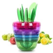 Fruit Slicer Set Creative Kitchen Tools Gadgets Fruit Cutter Best Unique Cool Citrus Peeler, Apple Slicer, Citrus Juicer PP