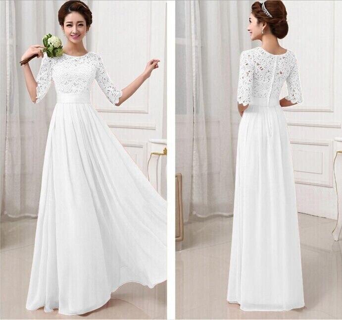 Aliexpress.com : Buy New Women Half Sleeve Lace Chiffon Princess A ...