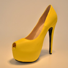 Yellow peep toe high heels online shopping-the world largest