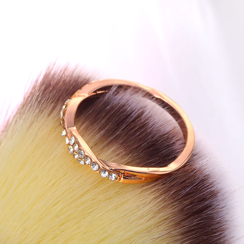 IPARAM Pattern Twisted Rope Hemp Flowers Ring Plating Rose Gold Silver Micro Cubic Zirconia Tail Ring Fashion Women's Jewelry 6