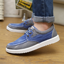 Canvas Shoes  2016 Newest Arrival Men's Fashion Spring Summer Style Casual Shoes Mens Breathable Flats Patchwork Lace-up Flats