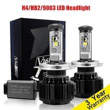 1 пара Высокое качество автомобилей светодиодные фары h4 Hi/lo Авто светодиодные фары лампы H4 фара 7200lm белый 80 вт 6000 К светодиодные лампы фар