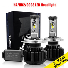 1Pair High Quality Car LED Headlight H4 Hi Lo Auto LED Headlight Bulb H4 Head font
