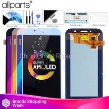 Garansi 5.7 Inci Super AMOLED LCD untuk Samsung Galaxy A7 2017 LCD Display A720 A720F A720M A720Y LCD Layar Sentuh suku Cadang