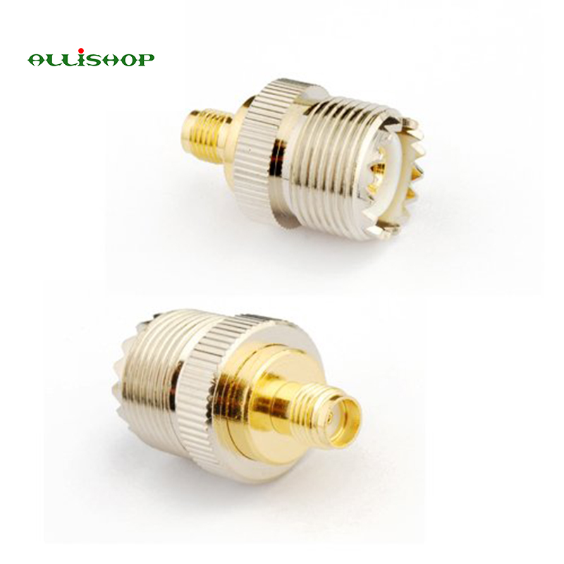 ALLiSHOP Electronics 1pcs RF coaxial coax adapter SMA female to UHF female SO-239 SO239 connector convertor 5 x rf antenna fm tv coaxial cable tv pal female to female adapter connector
