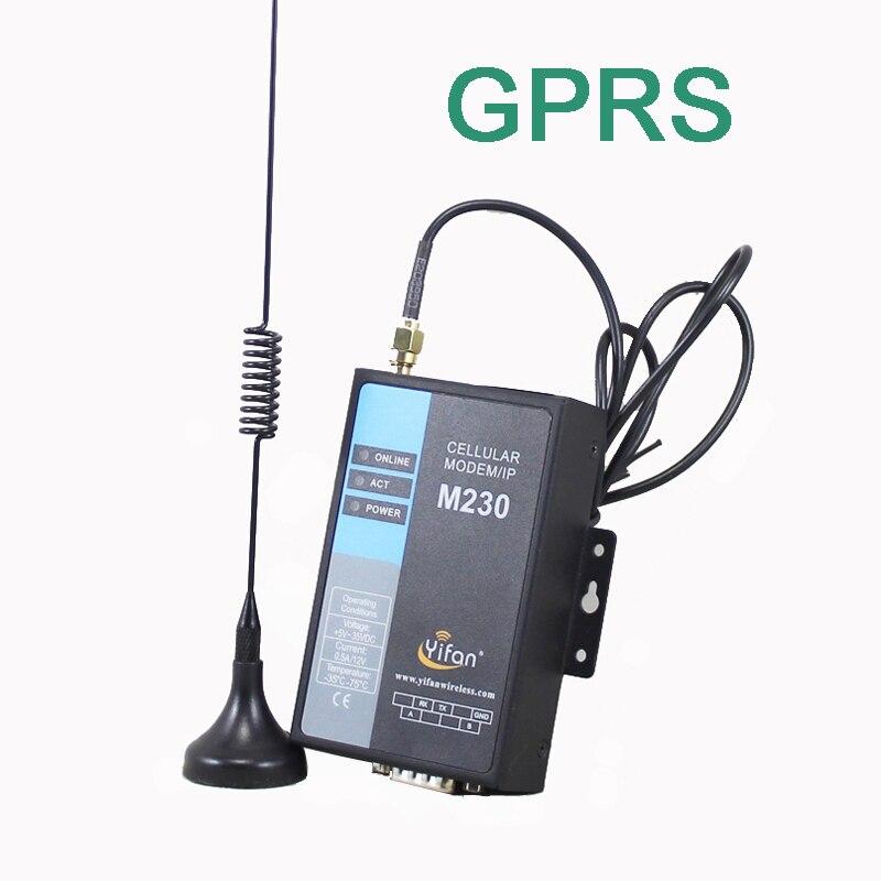 Modem M230-G RS232 RS485 GSM GPRS DTU pour la lecture automatique des compteurs, PLC