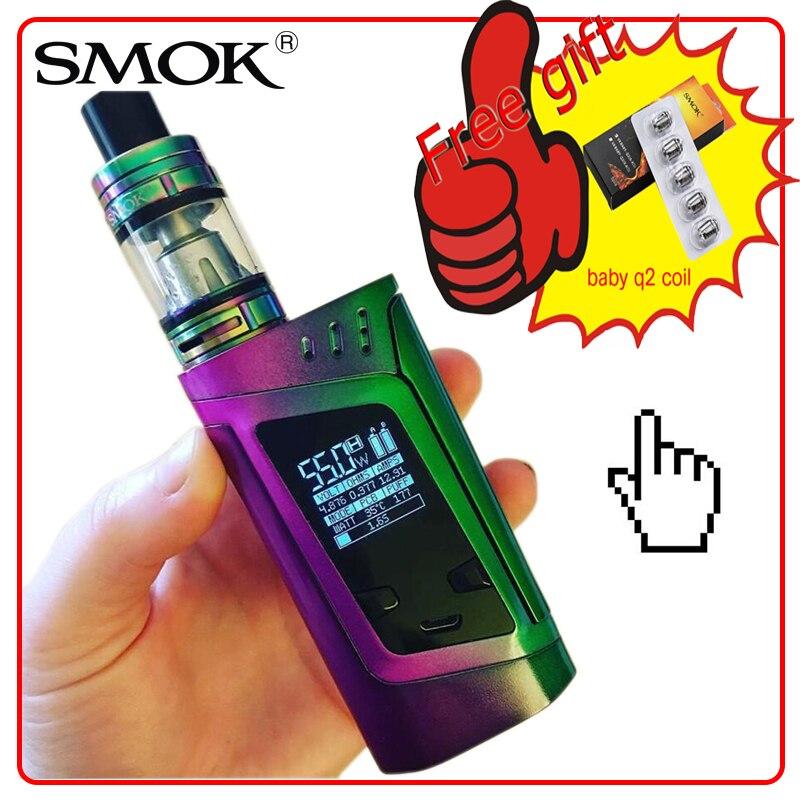 bilder für Ursprüngliche smok alien kit mit alien 220 watt box mod und 3 ml TFV8 Baby Tank 18650 batterie nicht enthalten Vape Kit Elektronische Zigarette