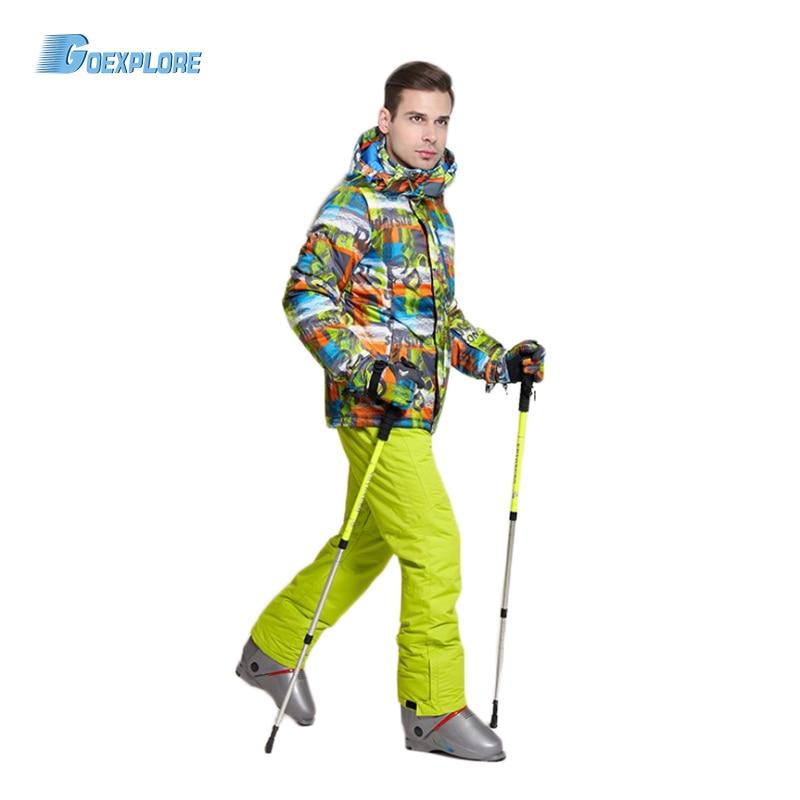 Goexplore Snowboard jacket and straps pants male Thicken Warm Waterproof Snow Sets Sportswear Warm Sport Winter Ski Suit MenGoexplore Snowboard jacket and straps pants male Thicken Warm Waterproof Snow Sets Sportswear Warm Sport Winter Ski Suit Men