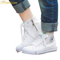 Kindstraum Clássicos Sapatas de lona para Meninos & Meninas Crianças Primavera Do Vintage de Alta Top Sapatos Casuais Crianças Tênis Da Moda, HJ157