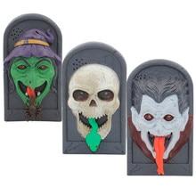 7 75 Animated Doorbell Witch Skull Vampire Halloween Prop Decoration