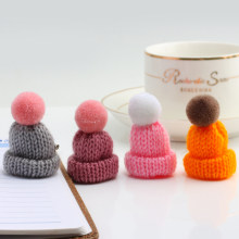 24 Colors Cute Mini Knit Hat Brooch Pins For Women Jewelry Clothes Bag Doll Accessories To Children Surprise Gift Lots Wholesale(China)