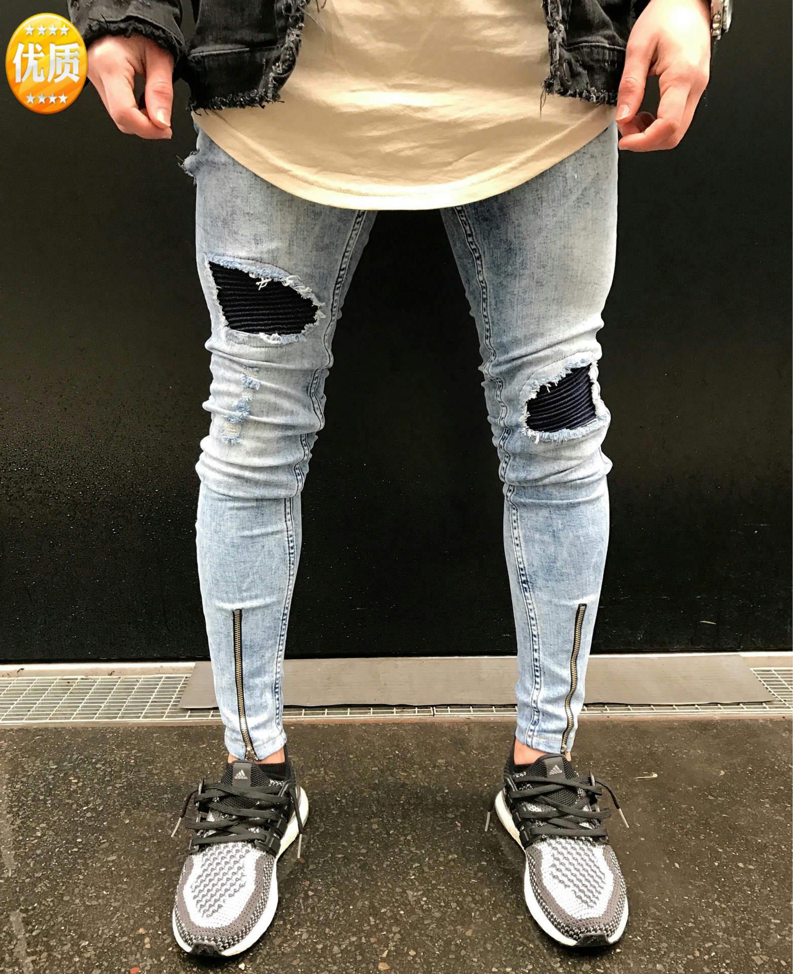 Fashion Solid Color Men Jeans 2019 New Spring Summer Skinny Fit Jeans Men Stretch Pants Elastic Skinny Jeans For Mens