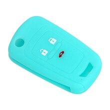 Авто ключ крышка для ключей для Автомобиля Световой вариант чехол стайлинга автомобилей удаленный ключевой 3 Пуговицы силиконовые для Chevrolet cruze 2013