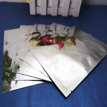 Plastic Food Bag Top Open 100pcs Silver Plating Aluminium Foil Bags Heat Sealable Packaging, Aluminized Pouches Seasoning Sachet