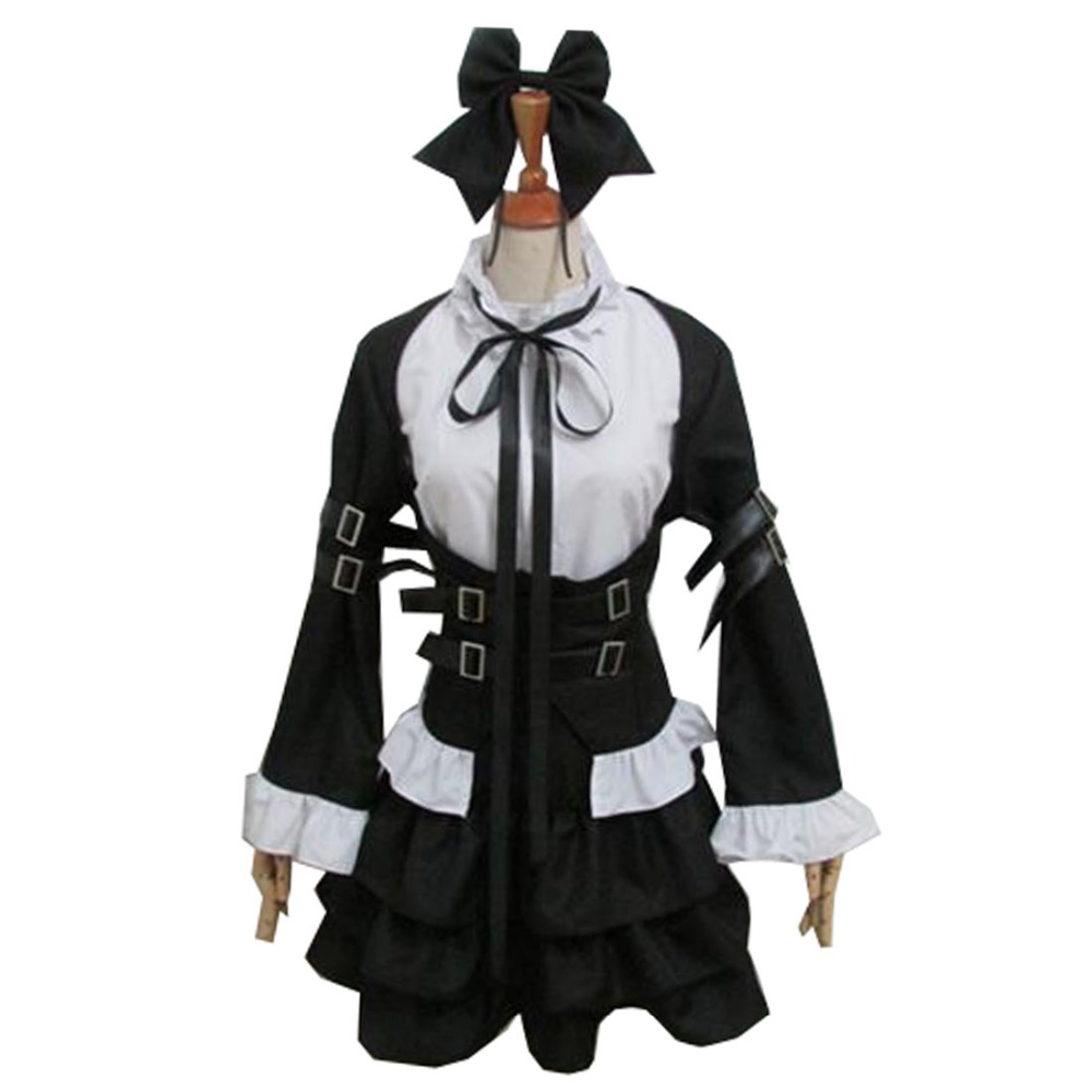 2018 Happy Fairy Tail Cosplay Erza Scarlet Witch Halloween Lolita Housemaid Costume