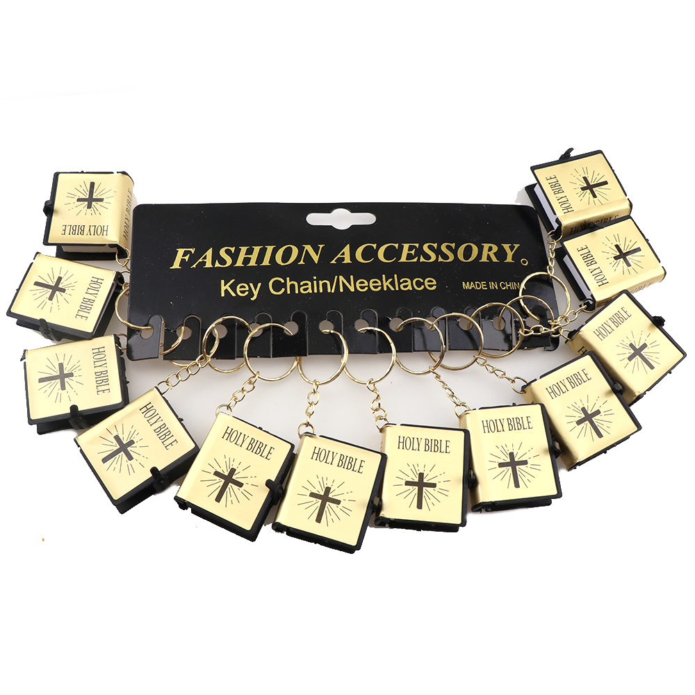 12pcs lot English Version Mini Religious Christian HOLY Bible Mini Leather  holy Bible Englsih Book Keyring Gift-in Key Chains from Jewelry    Accessories on ... 13f8cca979cc
