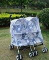 2016 recién nacido cochecito para bebé de los gemelos Buggy Pram Protector cubierta Bug Fly Midge insectos bebés doble cochecito neta Bar