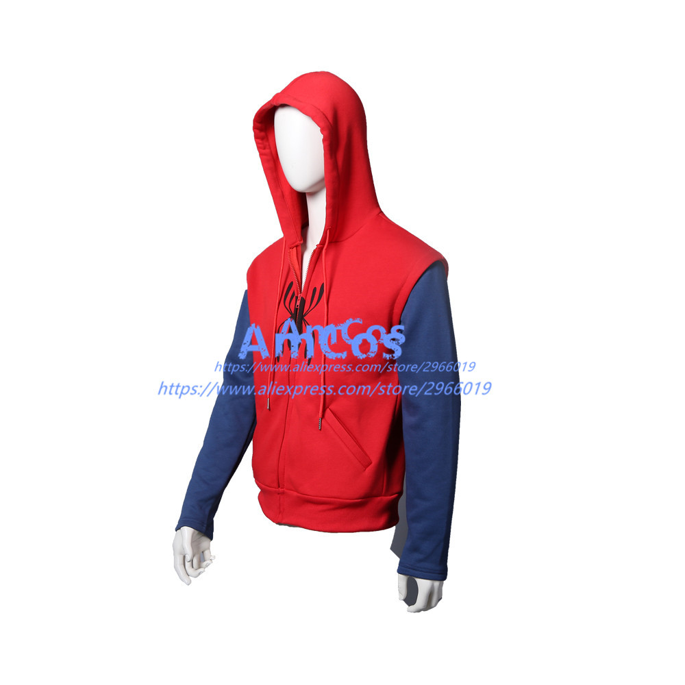 e9a88bf6933df 2017 film Spider Man Homecoming Peter Parker Cosplay Superm FullZip  Pullover Hoodies Männer Sweatshirt Langarm SpiderMan Jacke in 2017 film  Spider-Man ...
