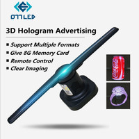 3D Hologram Advertising Display LED 3D Holographic Projectors Imaging 3D Naked Eye LED Moving Head Light for Holiday Decoration