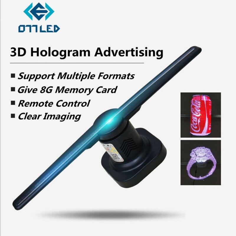 3D hologramme publicité affichage LED 3D projecteurs holographiques imagerie 3D oeil nu LED lumière principale mobile pour la décoration de vacances