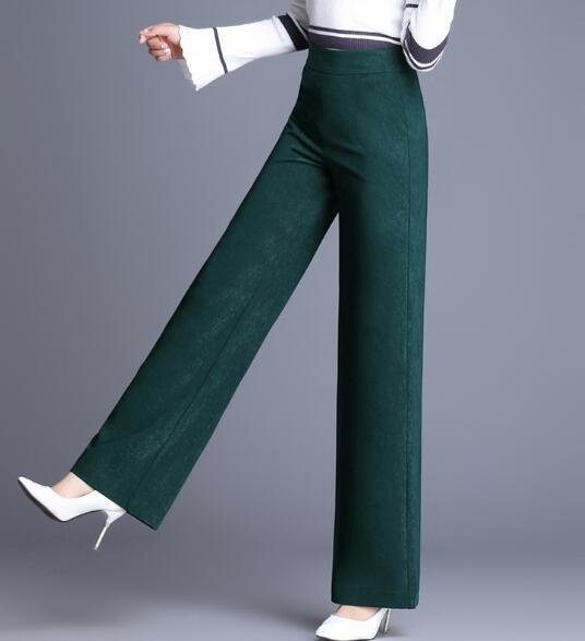 Mujer Oscuro Las Elástica Casual verde gris Alta borgoña Mujeres Pantalones Nueva Gris Ancha Plus Negro Rojo Pierna Cintura Moda Tamaño Hdl0901 Verde Negro De Ol Uq5awBY