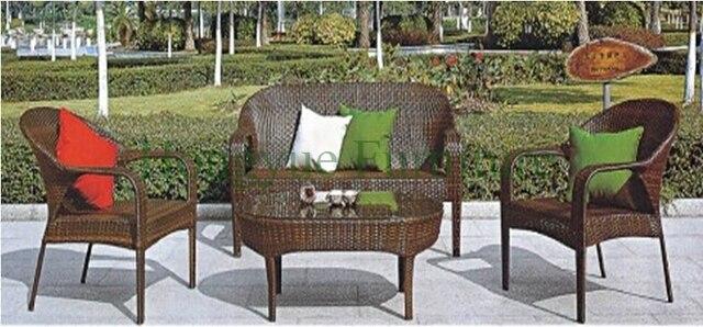 Ratán sofá de jardín muebles, patio de mimbre del sofá en Juegos de ...