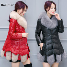 Baalmar Winter Leather Jackets 2017 New Winter Coat Warm Outwear Cotton Jacket Womens Clothing High Quality XXXL