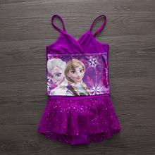 Kids swimsuit Children Swimwear One Piece Girls Elsa Anna Swimsuit For Girls Plavky May Beachwear Kids Bathing Suits