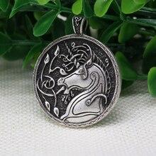 10pcs wholesale celt symbol animal Unicorn pendant  men Necklace Antique Silver Pendant Norse Viking Jewelry