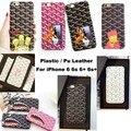 Gyd brand new casos para iphone 6 6 s 6 plus 7 7 plus telefone de volta Da tampa Da Caixa de Couro 10 tipos de estilo de moda da pele
