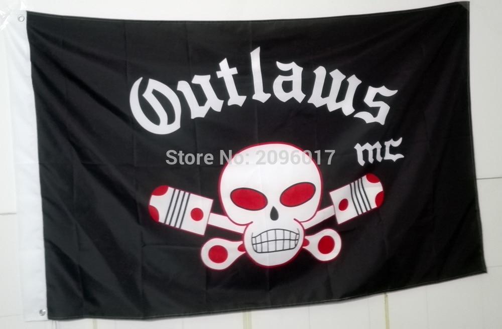 Новое поступление, мотоциклетный Байкерский флаг Outlaw, флаг клуба мотоцикла, индивидуальный флаг, флаг баннера, летающий флаг