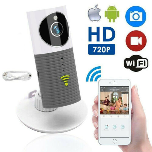 HD 720P Clever Dog Cleverdog Home Security WiFi CCTV IP Camera Baby Monitor Grey