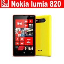 "Original NOKIA Lumia 820 Mobile Phone Windows Phone 4.3"" 3G Wifi 8MP Unlocked Refurbished Nokia 820 Phone"