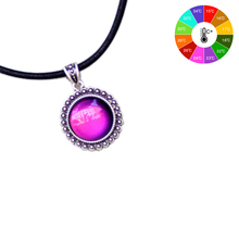 ФОТО Mojo   Punk Style Sterling Silver Plating Round Mood Color Changing Leather Necklace for  Women MJ-SNK004