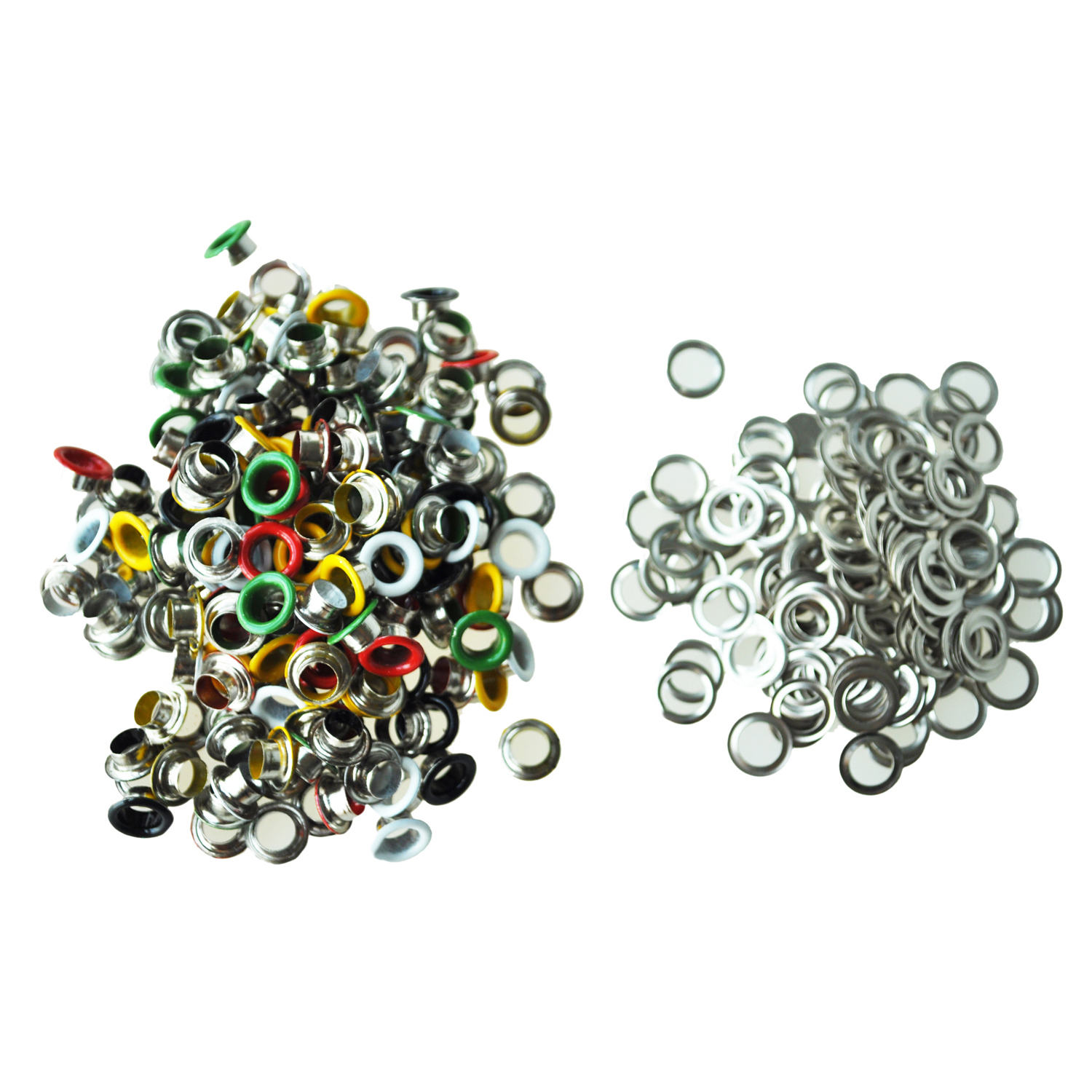 Botique 200 pcs Metal Colorful Round Eyelets Rivets Mixed Colors 9 mm