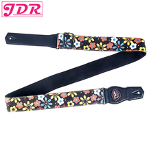 JDR Guitar Strap, Adjustable Soft Cotton With Lovely Flower Pattern Strap for Bass