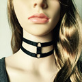 black adjustable harness necklace body harness fetish wear harajuku gothic harness cross free shipping