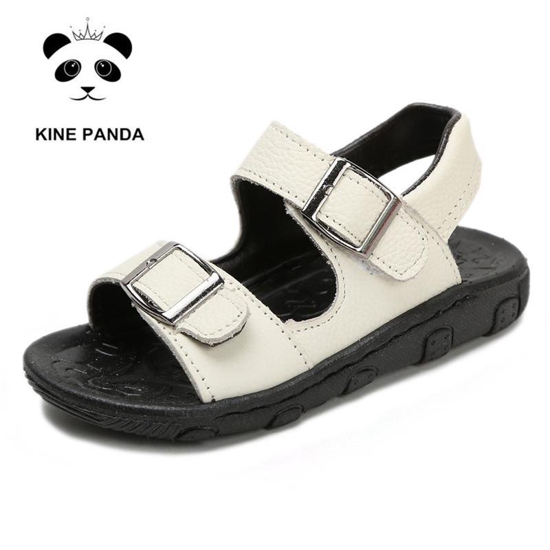 KINE PANDA Boys Sandals Summer Little Kids Shoes for Boy Sandals Genuine Leather Toddler Baby Shoes Soft Rubber Bottom 1 5Y in Sandals from Mother Kids