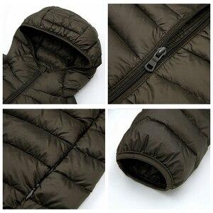 Image 4 - NewBang בתוספת 9XL 10XL 11XL למטה מעיל זכר גדול גודל 90% קל במיוחד למטה מעיל גברים Lightweigh חם מעיל סלעית נוצה parka