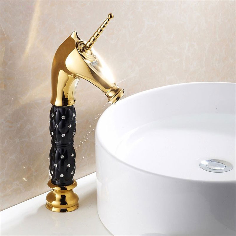 Basin Faucets Artist Designer Classic Special Bronze 2 Cross Handle Bathroom Sink Taps Gold-plating Antique Mixer Brass ZLY-2011Basin Faucets Artist Designer Classic Special Bronze 2 Cross Handle Bathroom Sink Taps Gold-plating Antique Mixer Brass ZLY-2011