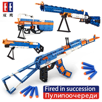 SWAT Emission Revolver Pistol Power GUN Technic Arms Model Assembled Brick Set Weapon Legoed Compatible Boy Toy Building Block