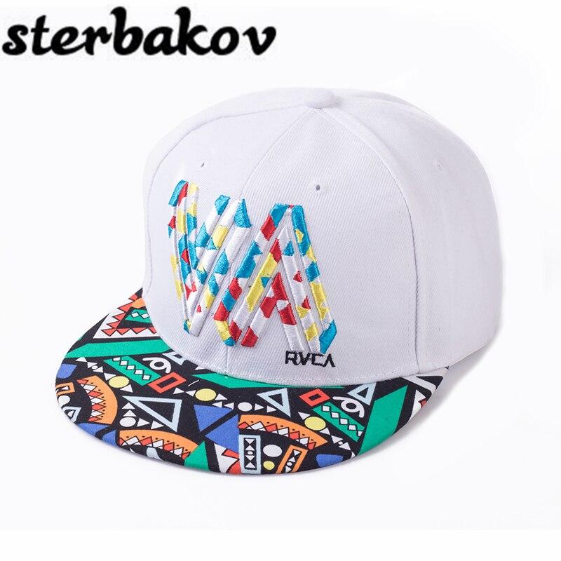Unique Personality Color Graffiti Snapback Caps Flat Hip Hop Cap Baseball Hats for Men and Woman Bone dad caps