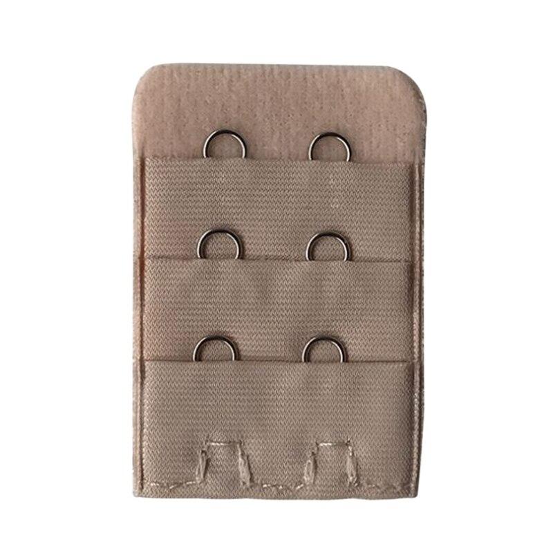 6 Hooks 3 Rows 18 Hooks Lengthen Spacing Bra Extender Strap Pack of 4-Red