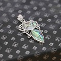 21*33mm Ethnic Chic Natural colourful Abalone seashells pendants geometry women Hot sale jewelry Wholesale and retail