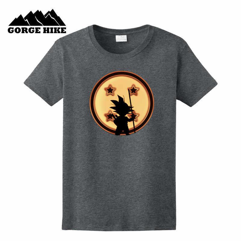 Мужская футболка в японском стиле аниме «Драконий жемчуг», «Z», «ребенок и сфера», «Гоку», забавная футболка из 100% хлопка с героями мультфильмов, топы, футболки